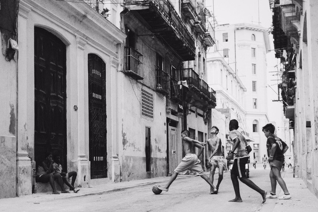 football on the street